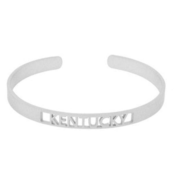 Silver Open KY Cuff Bracelet