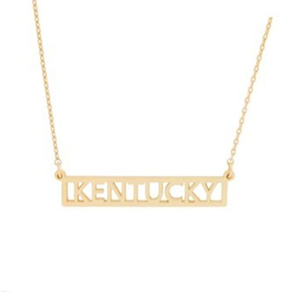 Gold Kentucky Bar Necklace