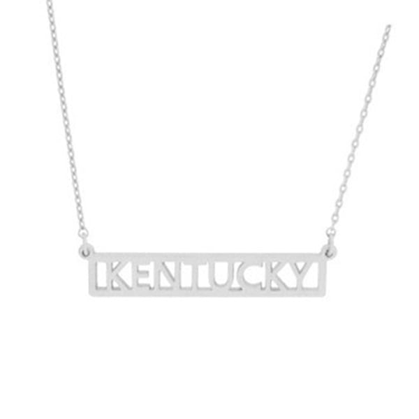 Silver KY Bar Necklace