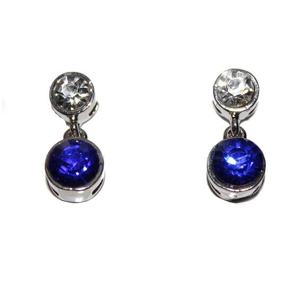 UK blue bling earring