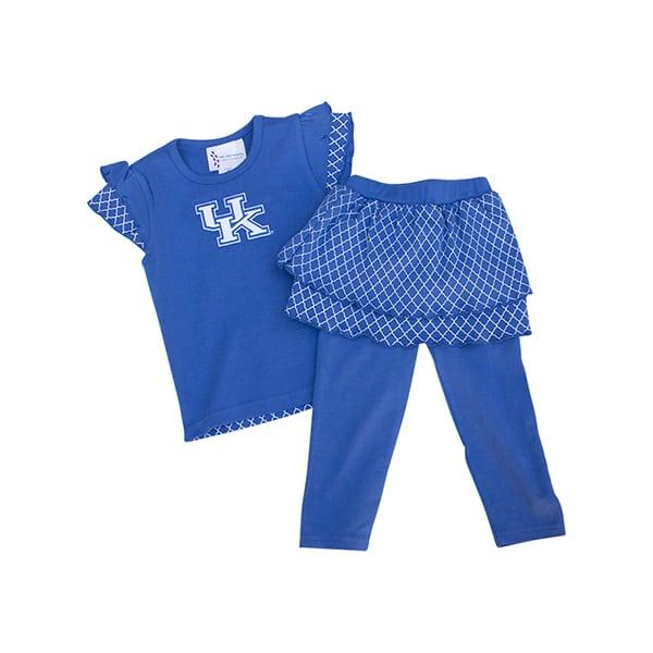 UK Lattice Shirt & Legging Set