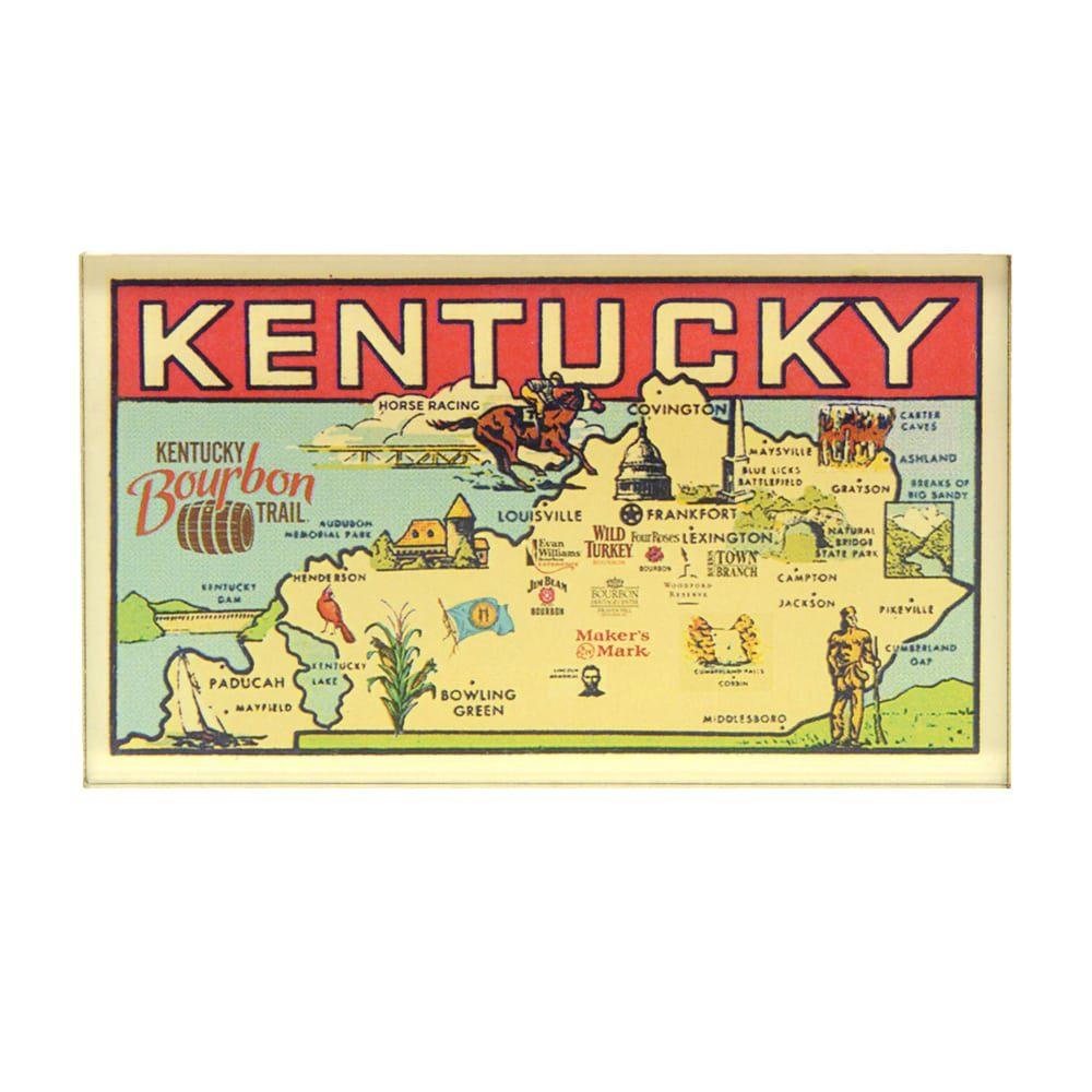 Retro Map Magnet - Kentucky Branded