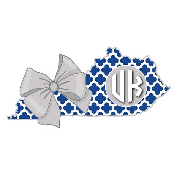 UK 3″ State w/ Bow Decal