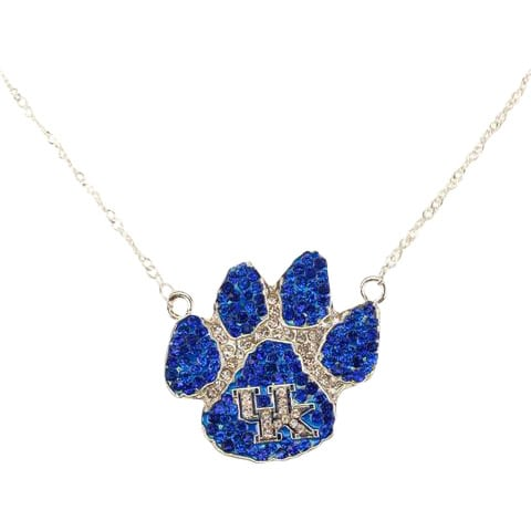 UK Paw Print Crystal Necklace