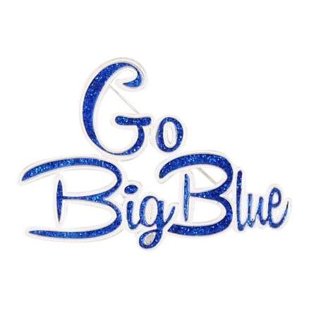 Go Big Blue Pin