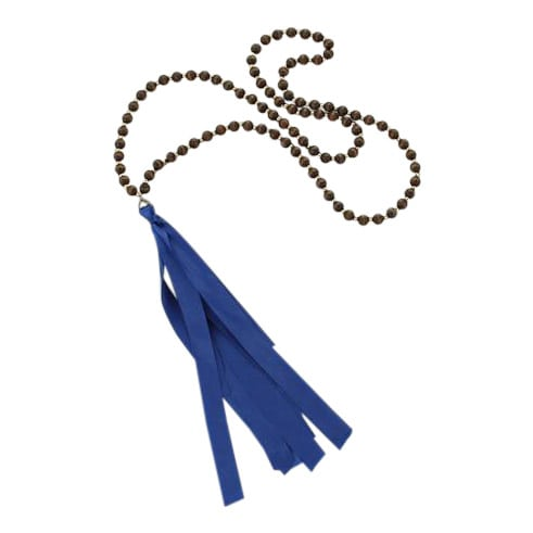 Blue Tassel Beaded Necklace