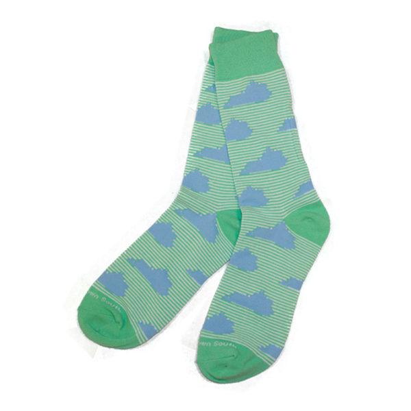 KY Green Stripe Socks