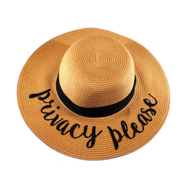 Privacy Please Straw Hat