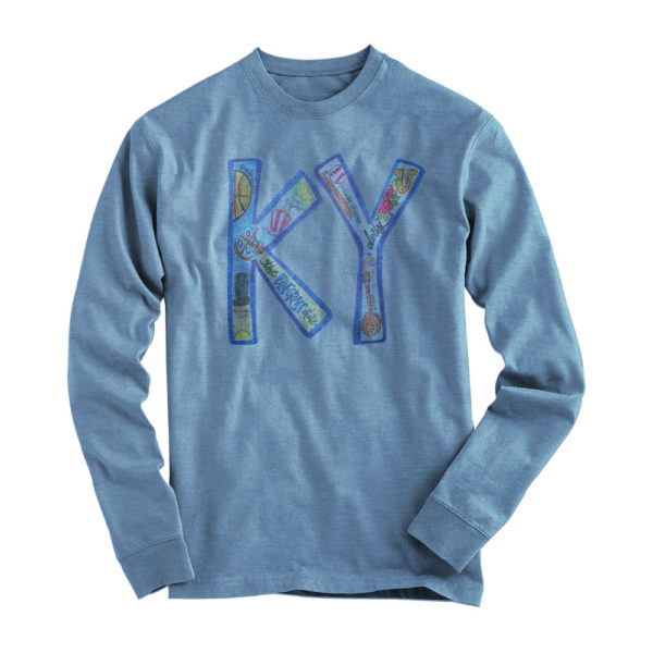 L/S KY State Abbreviation Tee