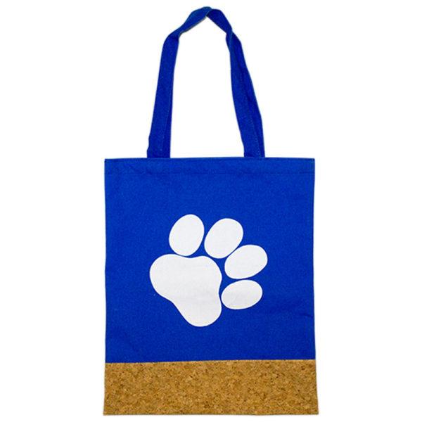 Royal Paw Print Cork Bag