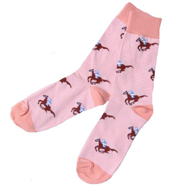 Coral Stripe Raceday Socks