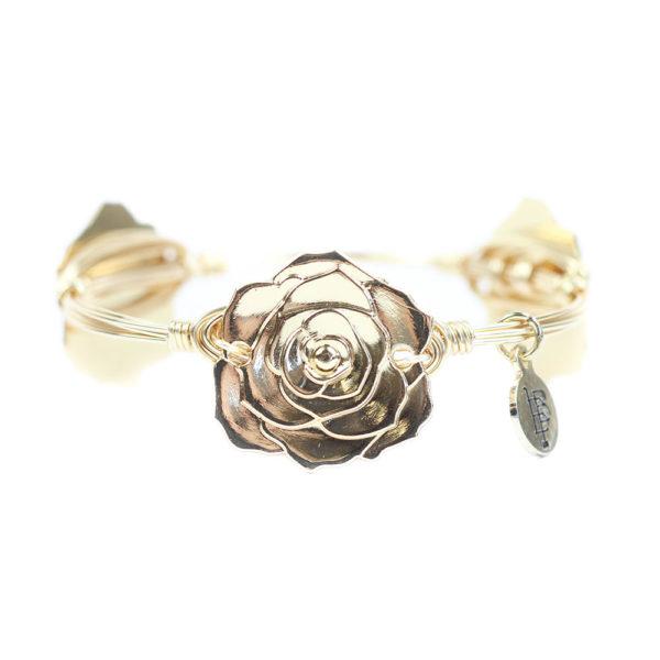 Rose Bangle Bracelet