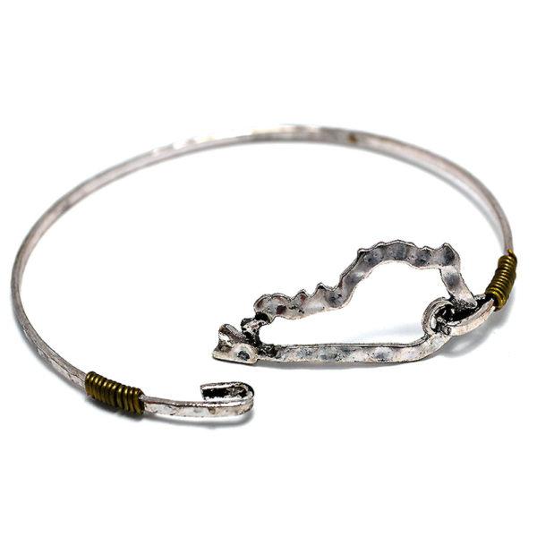 KY Hammered Cut Out Bracelet