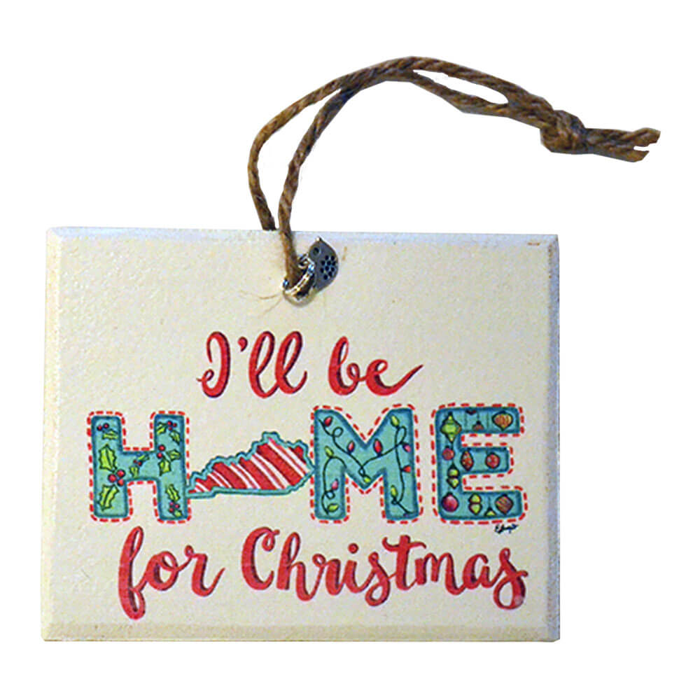 KY I\'ll Be Home Xmas Ornament – Kentucky Branded