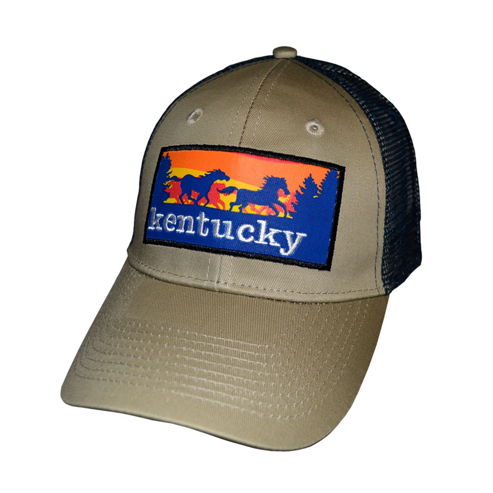 KY Horse Scene Patch Hat